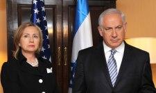 il ministro degli esteri americano Hillary Clinton con il premier israelaino Binyamin Netanyahu